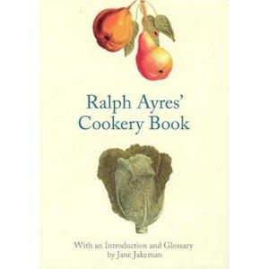 Forsiden på Ralph Ayres Cokkery Book. Frugten er en kvæde, som i 1700-tallet blev flittigt brugt til både kager, sødt slik og marmelade.