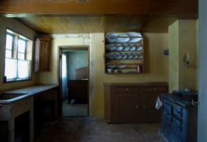 Køkkenet på Frilandsmuseets bornholmske gård